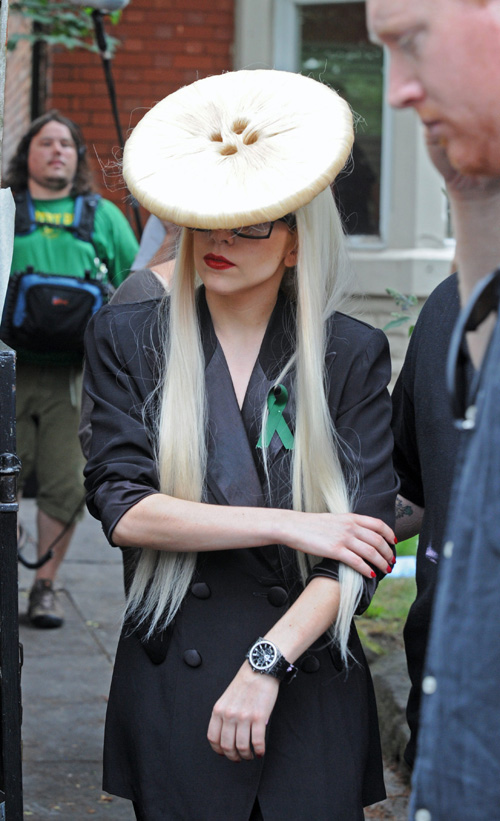 Lady Gaga: A Hairstyle That Won't Catch On.  Photo: Splashnewsonline.com