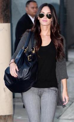Megan Fox Tapes Jimmy Kimmel.  Photo: Flynetonline.com