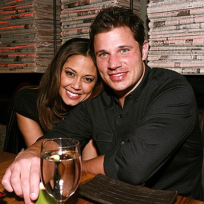 Nick Lachey and Vanessa File Photo