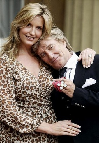 Rod Stewart & Penny Lancaster At Happier Times?  Photo: Daylife.com