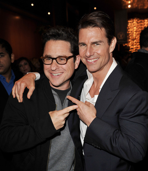 Tom Cruise & J.J. Abrams At Valkrie Premiere.  Photo: Kevin Winter/Getty Images