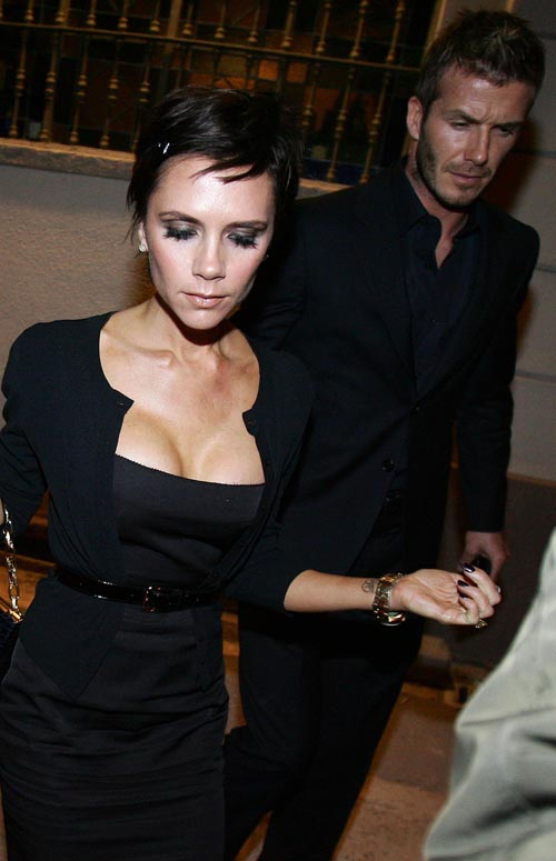 Victoria Beckham, Her Breasts & David Beckham.  Photo: INFDaily.com