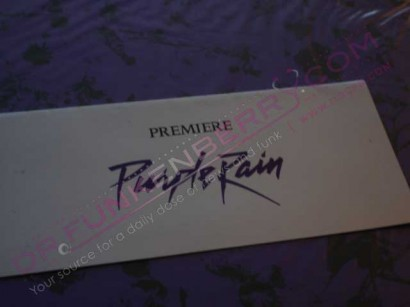 Purple Rain Premiere Ticket/Envelope.  Image Provided By Drfunkenberry