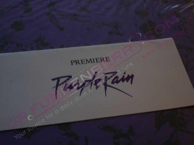 Purple Rain Premiere Ticket/Envelope.  Image Provided By Drfunkenberry