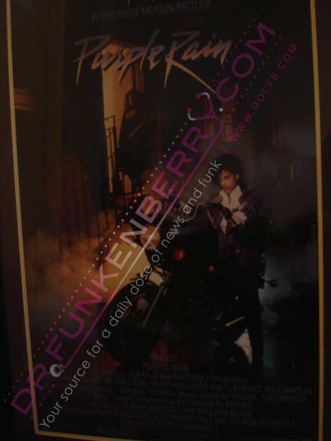 Purple Rain Movie Poster From Groman's Chinese Theatre. Image Provided By Dr.Funkenberry