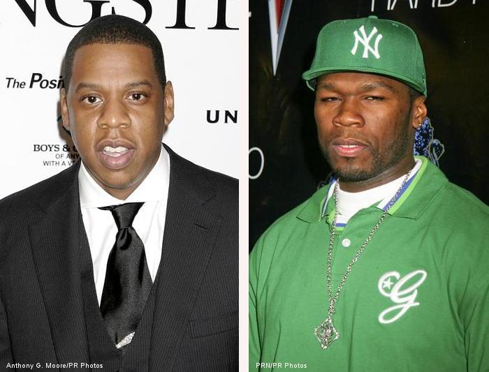 Jay Z & 50 Cent.  Photo Credits Above