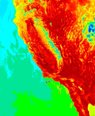 California Heat Thermal File Photo