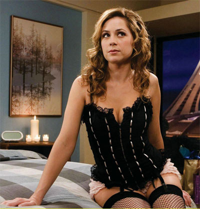 Jenna Fischer Wears Inappropriate Attire For The Office.  File Photo