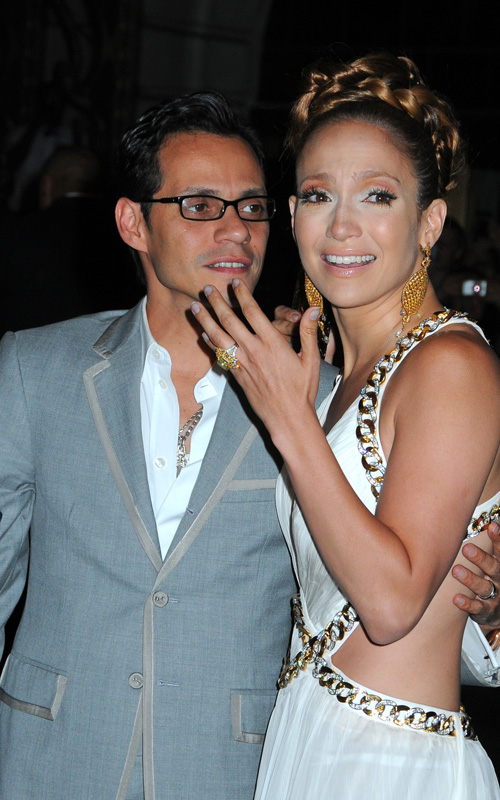 Jennifer Lopez & Marc Anthony Celebrate J. Lo's 40th.  Photo: SplashNewsOnline.com