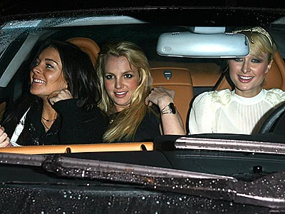 In The Good Ol Days, Lindsay, Britney & Paris Together.  File Photo