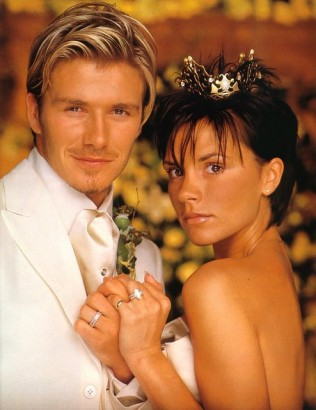 David Beckham &amp; Victoria Beckham On Their Wedding Day.  July 5th 1999