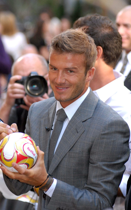David Beckham On The Today Show.  Photo: SplashNewsOnline.com
