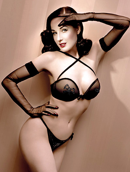 Dita Von Teese Won't be Wearing Much More This Week.  File Photo
