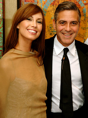 George Clooney & His New Girlfriend Elisabetta Canalis. Photo: Unlisted At This Time