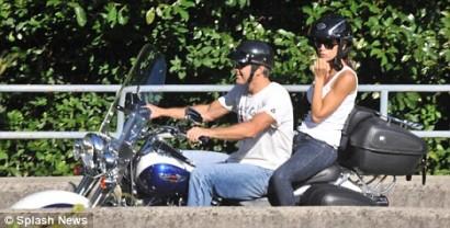 George Clooney & Elisabetta Canalis. Photo: SplashNewsOnline.com