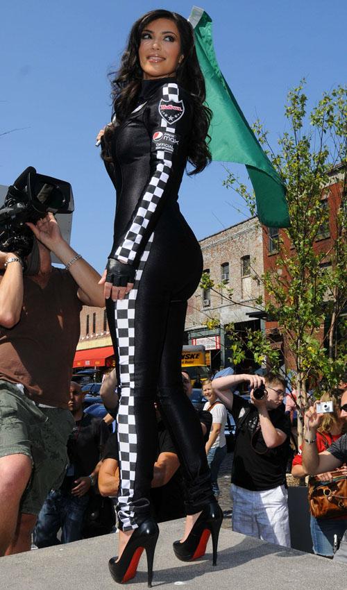 Kim Kardashian At The Pepsi Max Races.  Photo: Gettyimages.com