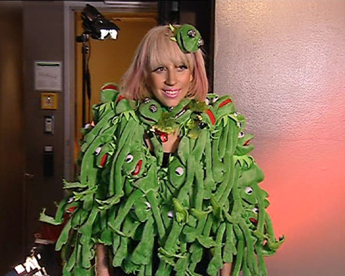 Lady Gaga Goes Froggy.  Photo: FamePictures.com