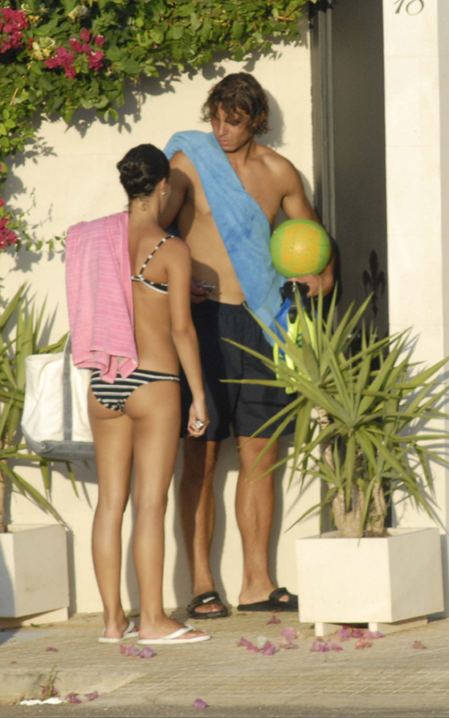 Rafael Nadal & Mariah Francesca Perello In Spain.  Photo: SplashNewsOnline.com