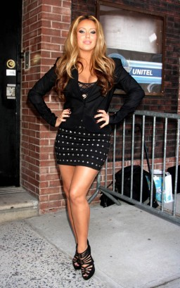 Aubrey O'Day Outside Wendy Williams.  Photo: INFDaily.com
