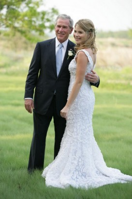 George W. Bush & Daughter Jenna Hager. Photo: NYPost.com
