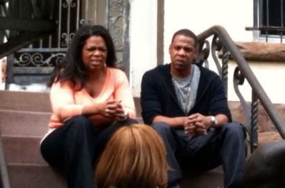 Oprah & Jay-Z In Bed-Stuy In Brooklyn This Past Weekend.