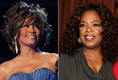 Whitney Houston & Oprah Winfrey. Photo: NyDailyNews.com