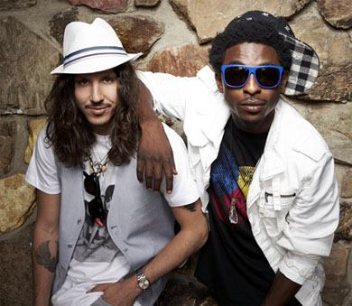 Shwayze &amp; Cisco Adler. Photo: TheInsider.com