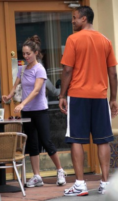 EXCLUSIVE: Eliza Dushku And Rick Fox Meet For Coffee