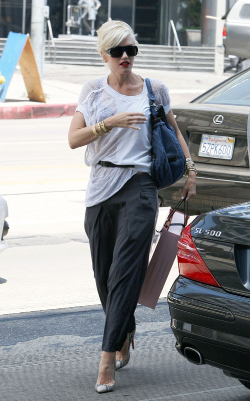 Gwen Stefani In West Hollywood.  Photo: Flynetonline.com