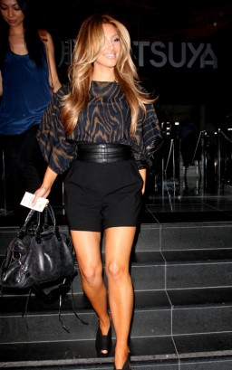Kim Kardashian Outside Katsuya. Photo: FamePictures.com
