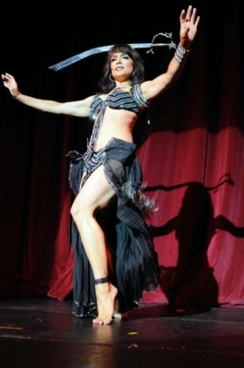 Mayte Belly Dancing At Dita Event Photo: © 2009 Aaron D. Settipane
