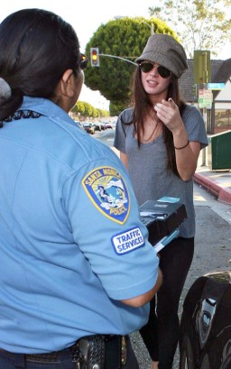 EXCLUSIVE: Megan Fox Gets A Ticket. Photo: Flynetonline.com