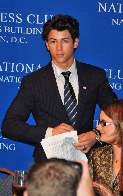 Nick Jonas @ National Press Club.  Photo: SplashNewsOnline.com