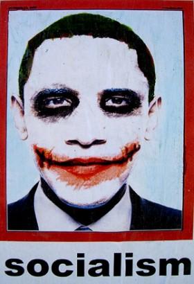 Obama Socialism Joker Poster