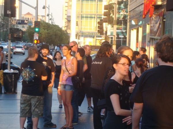 Adrian Curry In Line At Nince Inch Nails Concert. Photo: CB