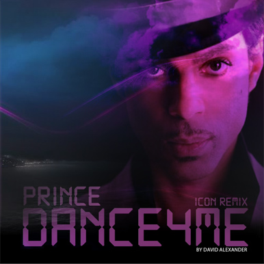 Cover for Prince's Dance 4 Me Icon Remix single