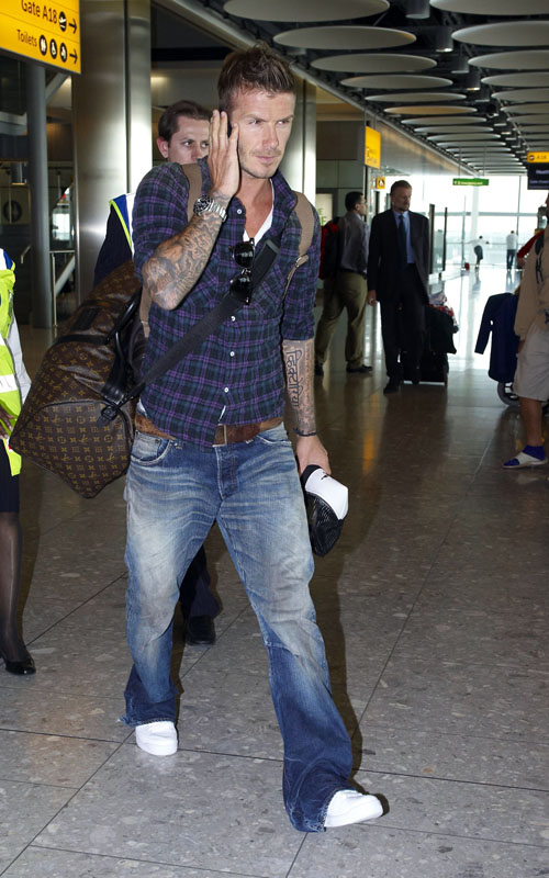 David Beckham At Airport. Photo: FlynetOnline.com
