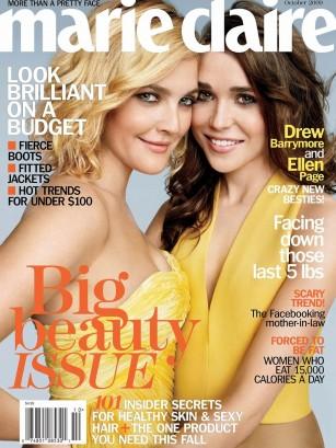 Ellen Page Drew Barrymore Marie Claire