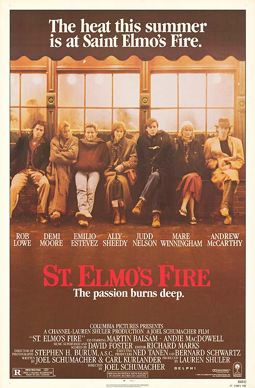 St. Elmos Fire Movie Poster