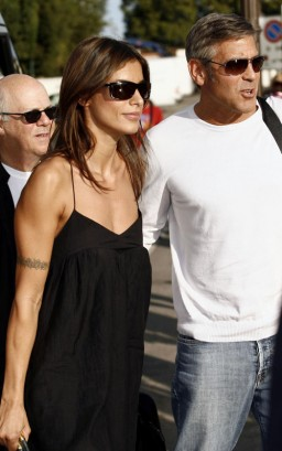 George Clooney & Elisabetta Canalis In Venice. Photo: PacificCoastNewsOnline.com