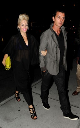 Gwen Stefani & Gavin Rossdale In New York City.  Photo: Dario Alequin/INFphoto.com
