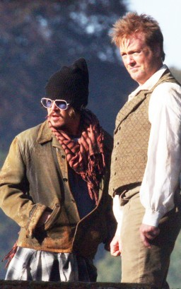 Johnny Depp & Stephen Jones On Set. Photo: INFDaily.com