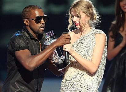 Kanye West & Taylor Swift. Photo: Mirror.uk
