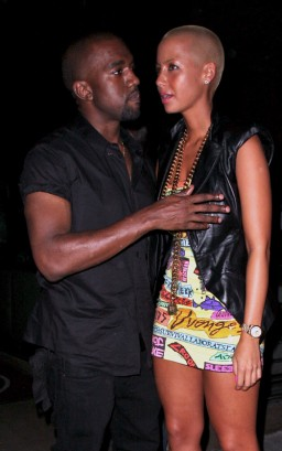 Kanye West & Amber Rose In Hollywood.  Photo: FamePictures.com