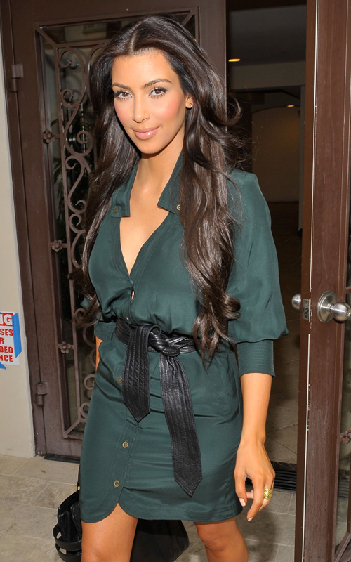 Kim Kardashian Back In Black. Photo: WireImage.com