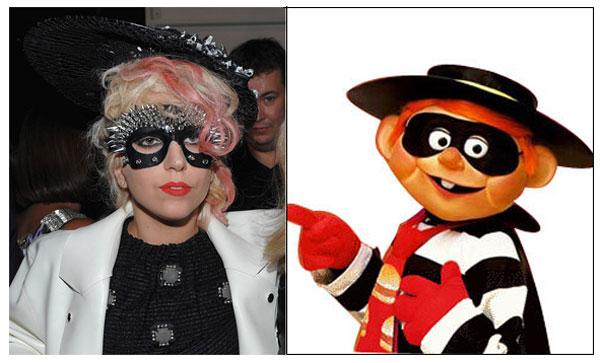 Lady Gaga & Hamburglar: Lady (Wireimage.com) Burglar (Mcdonalds/Parasio
