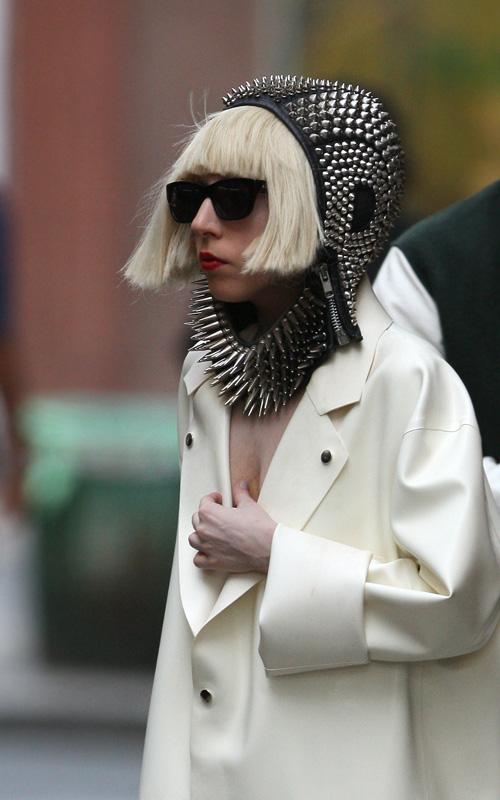 Lady Gaga In Soho.  Photo: SplashNewsOnline.com