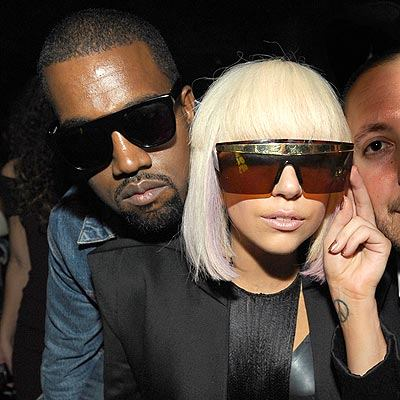 Kanye West & Lady Gaga.  Photo: TheInsider.com