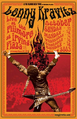 Lenny Kravitz Filmore East Poster Design By Mathieu Bitton