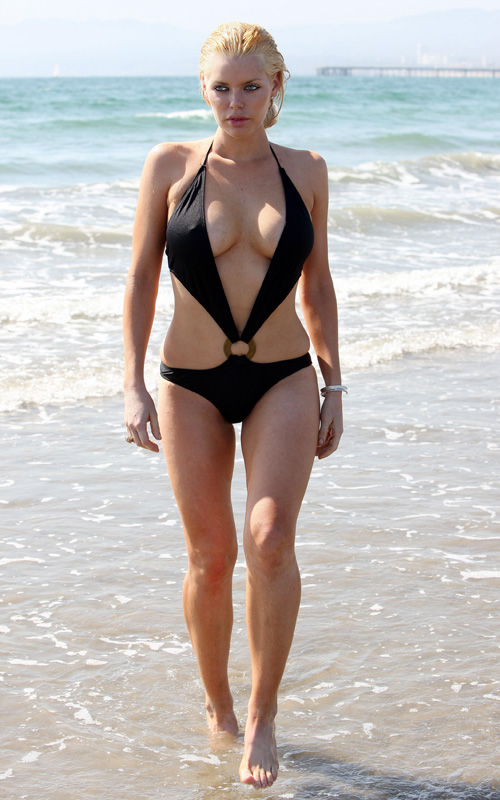 Sophie Monk At A California Beach.  Photo: FamePictures.com
